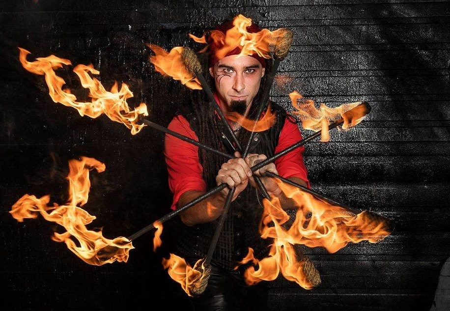 Montreal Fire Performer Golem Flamewater Circus