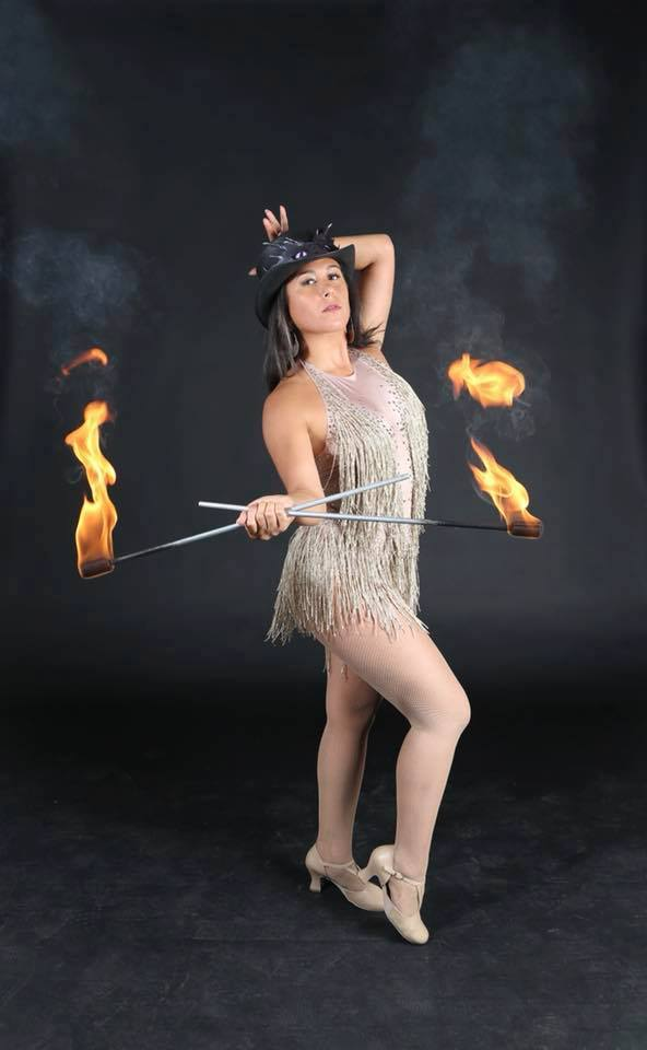 New York Fire Performer Brittny Flamewater Circus (5)