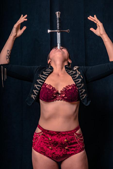 Ottawa Sword Swallower Kaylie Kreatrix Flamewater Circus
