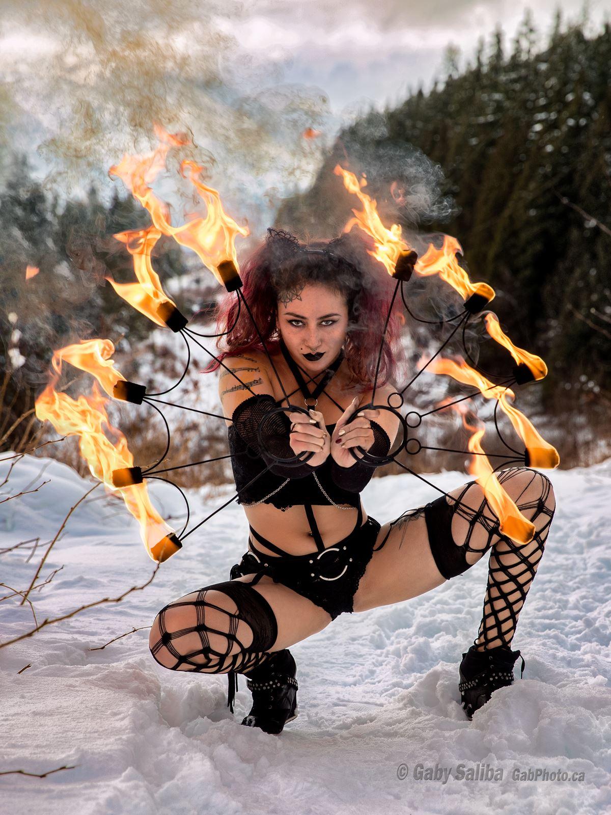 Vancouver Fire Dancer Kosmic Kitty Flamewater Circus (2)