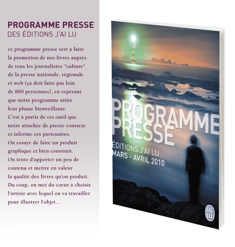 Programme Presse des éditions J'ai lu - Mars / Avril 2010