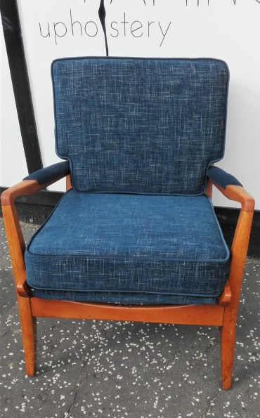 re-upholstered cintique chair