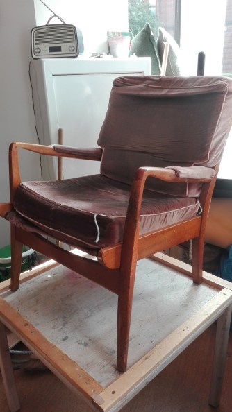 cintique chair in need of re-upholstery
