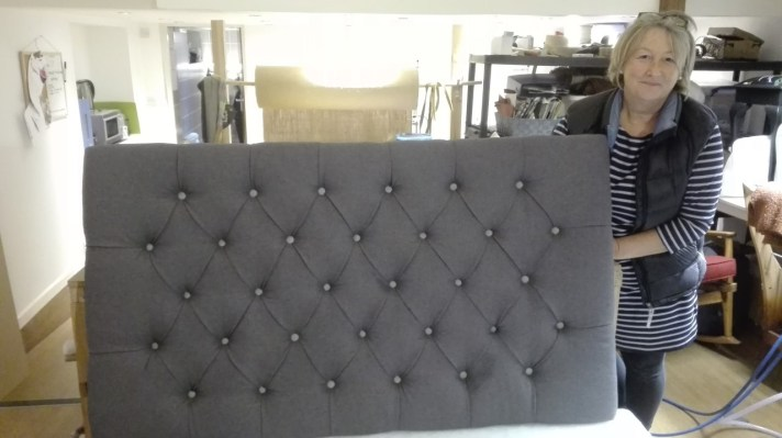 completed headboard in leisure class