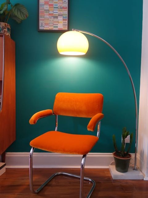 upholstered retro chair by leisure class student