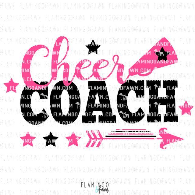 Cheer Coach Svg Files Cheer Coach Cutting Files