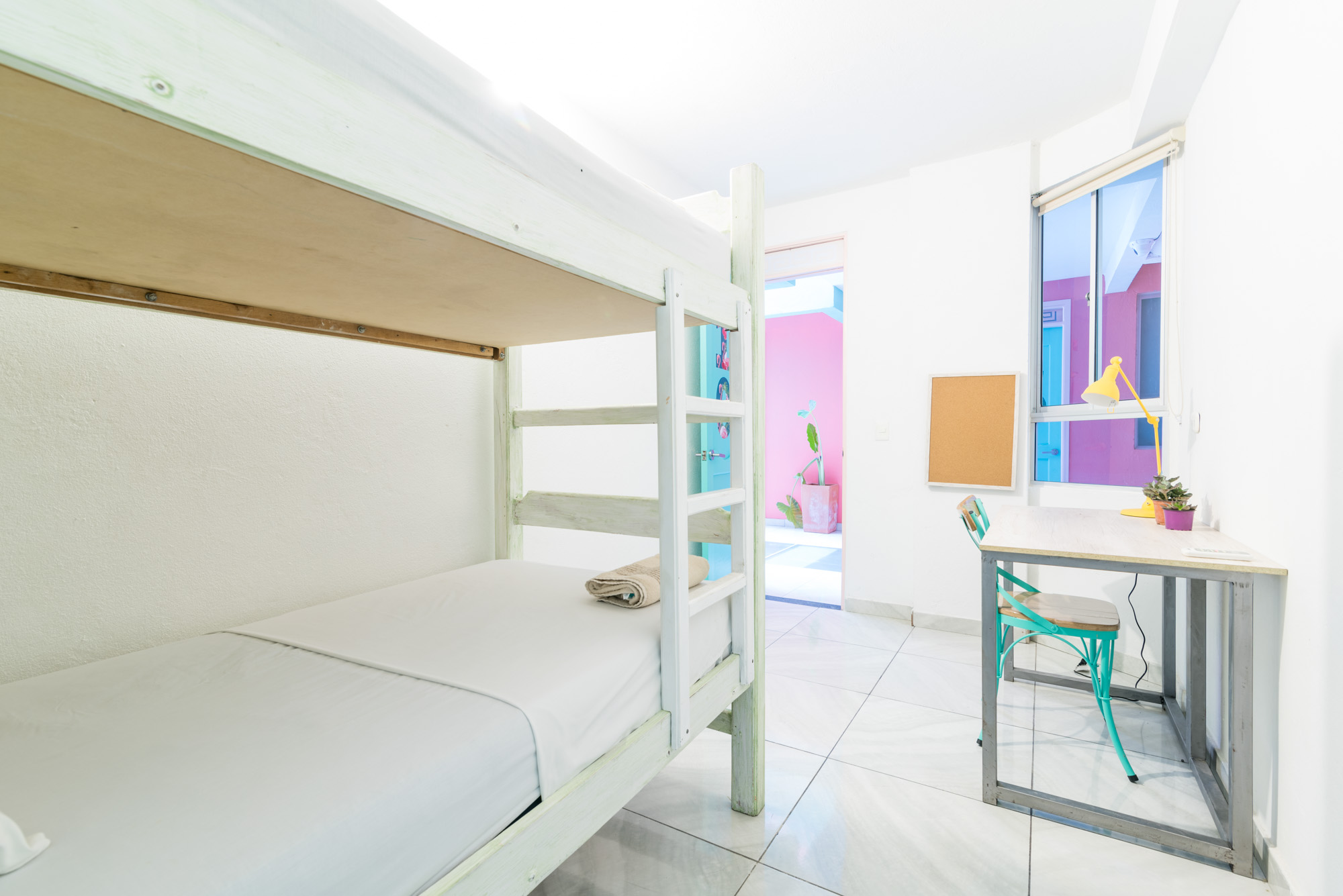 2-bed dorm at Flamingo Coworking in Santa Marta Colombia