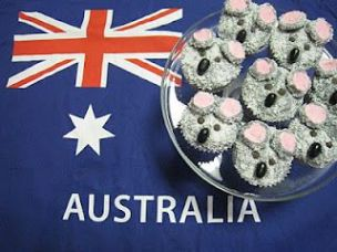 Koala cupcakes, or patty cakes as we called them before they became fashionable.