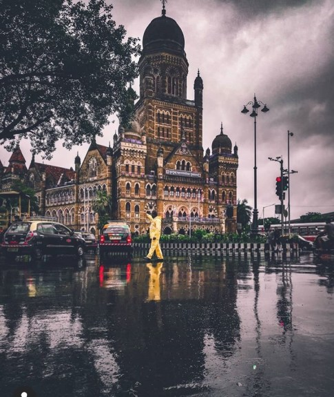 BMC building during monsoon