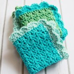 Easy Crochet Dishcloth Pattern Tutorials Flamingo Toes