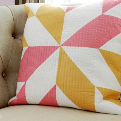 Pretty Half Square Triangle Pillow