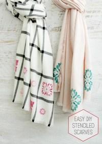 Easy DIY Stenciled Scarves