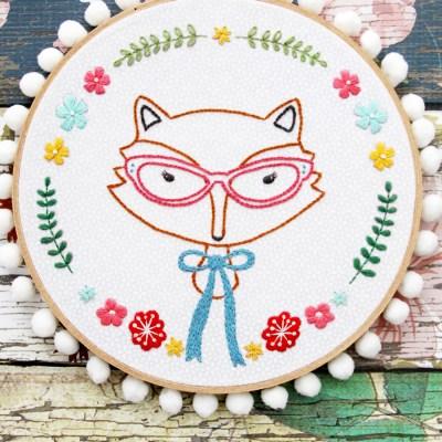 Fox Portrait Embroidery Pattern