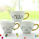 Diy Cat Mugs Dishwasher Safe Home Decor Flamingo Toes