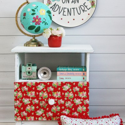 Vintage Inspired Sign and Ikea Nightstand Hack