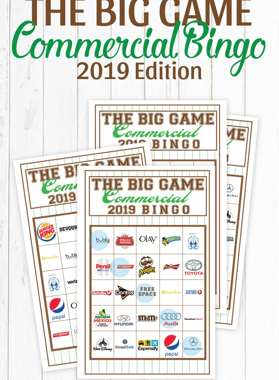 Super Bowl Commercial Bingo featured by top US craft blog, Flamingo Toes.