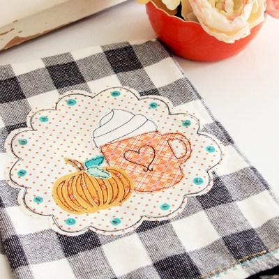 Pumpkin Spice DIY Fall Dish Towel