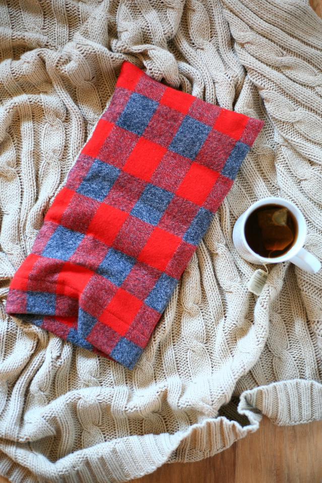 Flannel Sewing Projects featured by top US sewing blog, Flamingo Toes: flannel rice bag