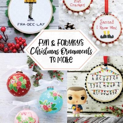 Fabulous and Fun DIY Christmas Ornaments