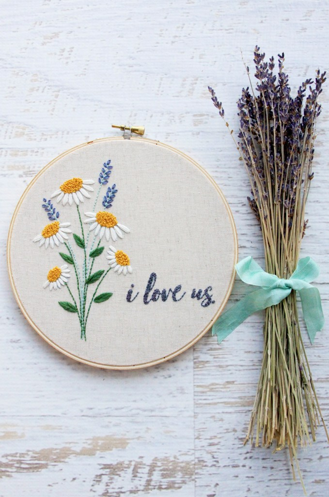 I Love Us Embroidery Pattern