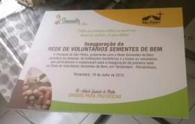 Rede de Voluntarios Sementes de Bem - Instituto Padre Arlindo Laurindo de Matos Junior 011
