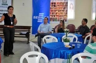 Katlin Machado (Gestora Programa ALI 2), Maria Lucélia Souza (Gerente Sebrae Araripina), Werson e Silva (Gestor do Projeto Gesso) e Flammarion Cysneiros (Consultor Sênior)