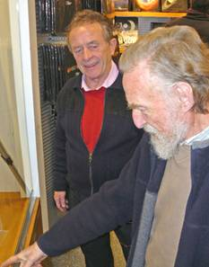 Bernie & Stan wonder who might get the £5,000 astronomical clock for Xmas! [Pic: Mike Dryland)