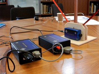 The VLF controller, receiver, aerial tuning unit and aerial