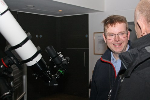 Mike shows off his new telescope!