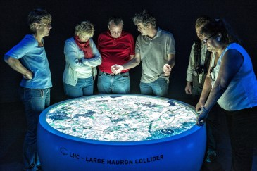 Viewing a map of the LHC