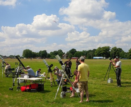 Scopes set up on Blackheath - by Andy Sawers