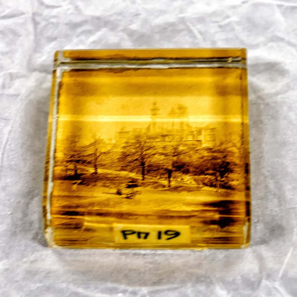 Glass Paperweight Souvenir of the Royal Observatory 1880s