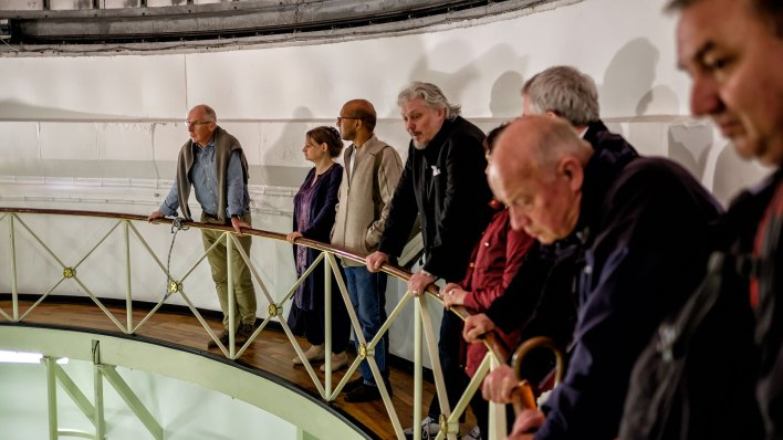 In the Radcliffe Dome with one of our guides