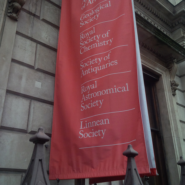 Outside the Royal Astronomical Society