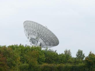 The Cambridge E-Merlin dish - part of the active world-wide interferometer called the Multi-Element Radio Linked Interferometer Network