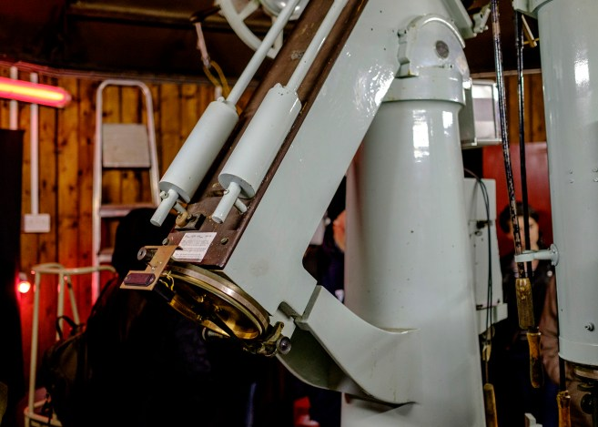 Detail of the German Equatorial Mount of the Thorrowgood Telescope