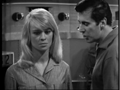 "Julie Christie and Peter Halliday in ""A for Andromeda"" BBC 1961"
