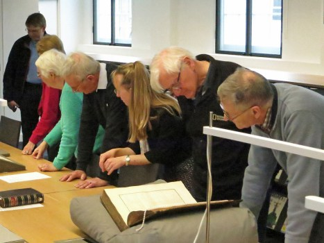 """Some of the Flamsteed group look closely at Bradley's """"Greenwich Observations"""""""