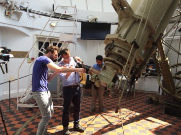 The Great Equatorial Telescope is also being used to view #mercurytransit . Still sunny!