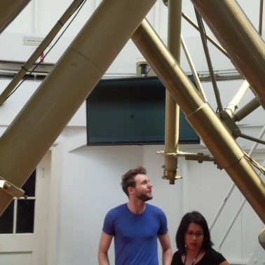 Tom Kerss with the Great Equatorial Telescope