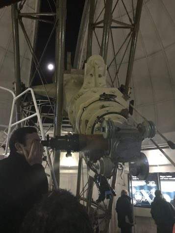 Looking through the Great Equatorial Telescope at the Moon
