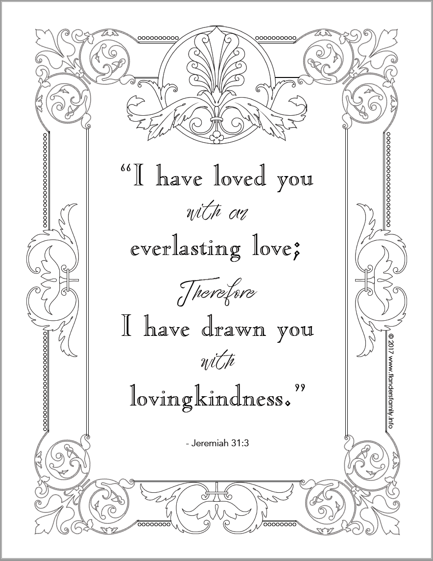 Love Coloring Pages : coloring, pages, Everlasting, Coloring, Flanders, Family, Homelife