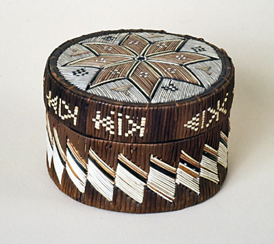 Porcupine and Birchbark Quill Box