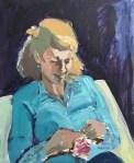 'Rachel Knitting'