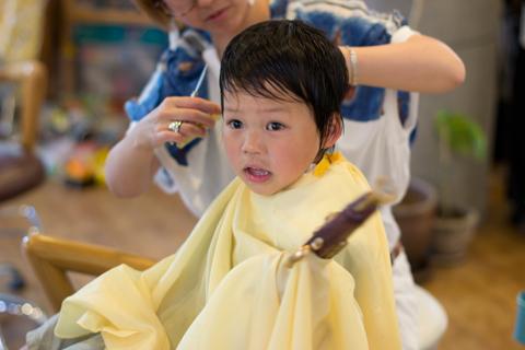 子供カット 青葉区、藤が丘、美容室、フラップヘアー