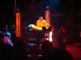 Dr. Frankenstein creating Monster