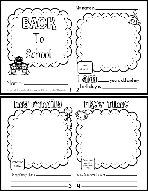 Back to School Mini Book FREEBIE in English and Spanish