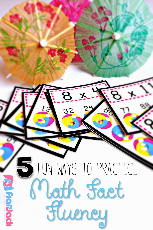 Five Fun Ways to Practice Math Fact Fluency FlapJack
