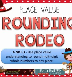 Rounding Rodeo PowerPoint Game Freebie for 4th Grade - FlapJack [ 900 x 1200 Pixel ]