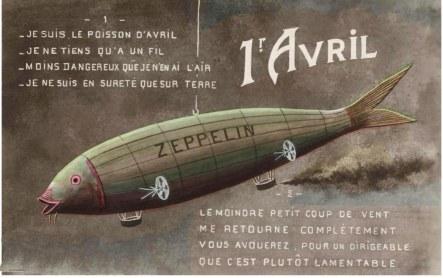 Poisson d'Avril zeppelin
